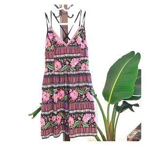 🌿☘️Xhilaration midi dress with Boho look☘️🌿